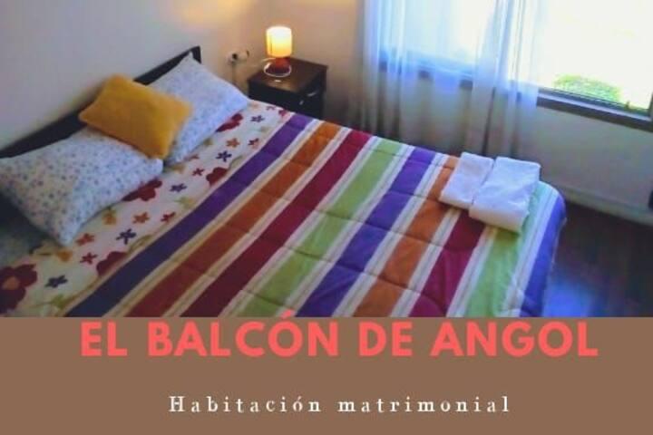 Habitación matrimonial en El Balcón de Angol