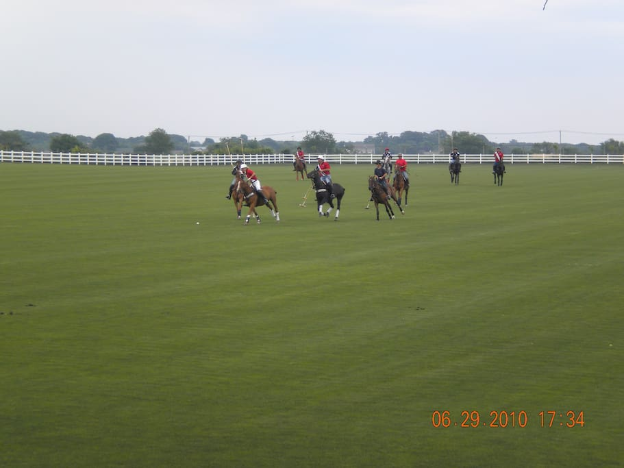 View the polo players in action from the house