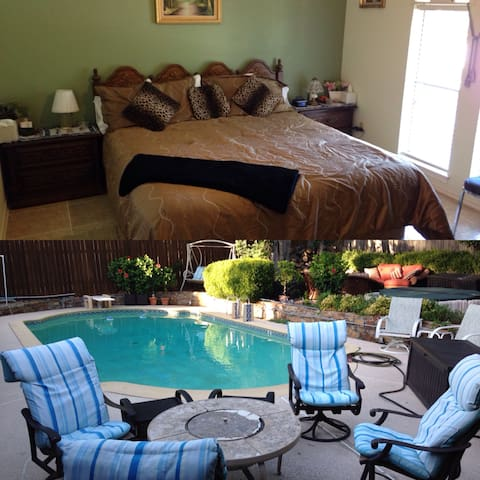 Kingsize bed w/ Private Bath, Pool & Spa. So Nice! - Duncanville - Talo