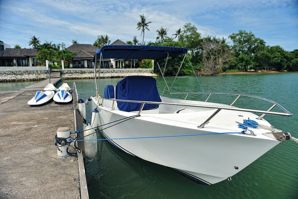 Private boat in Puri Tirta villas can be book with additional charge.