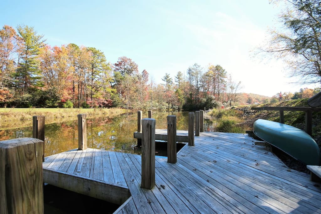 Dock just steps away from rental