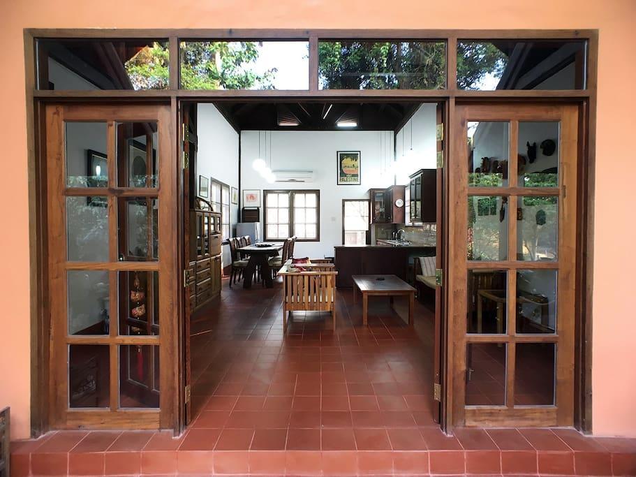 Enter the cottage!