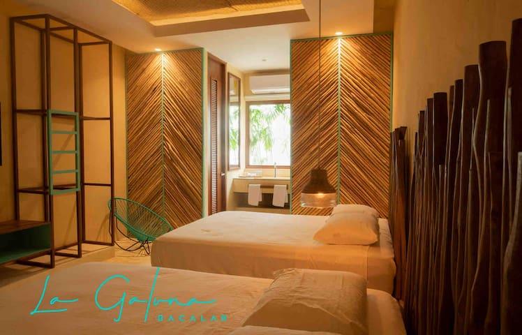 AWE Luxury Room in #Bacalar *La Galuna Hotel*
