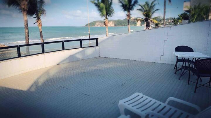 Apartamento Kings Flat Frente Mar com Varanda 202