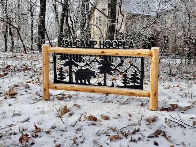 Our new 491 Camp Hoopla sign November 2018!