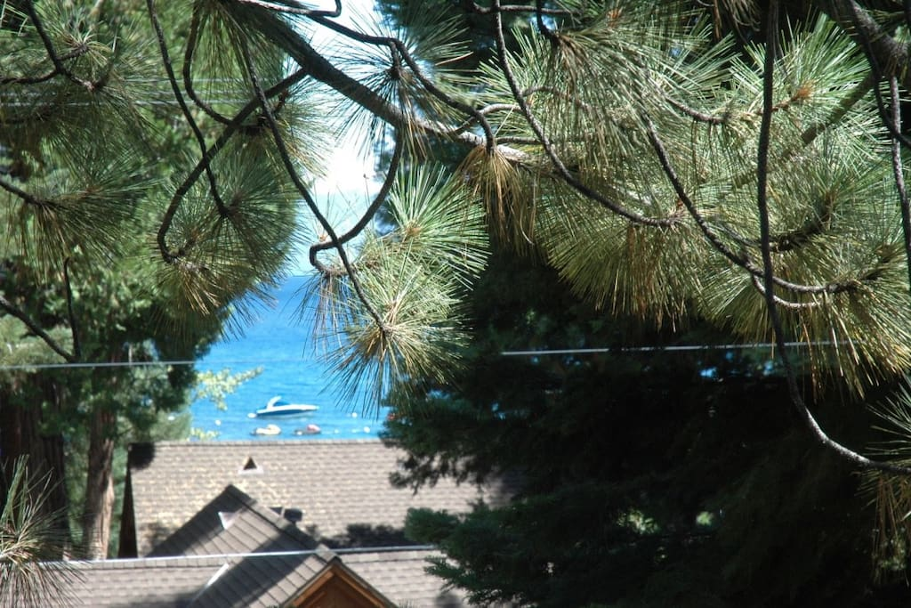 Lake view from deck and dining room