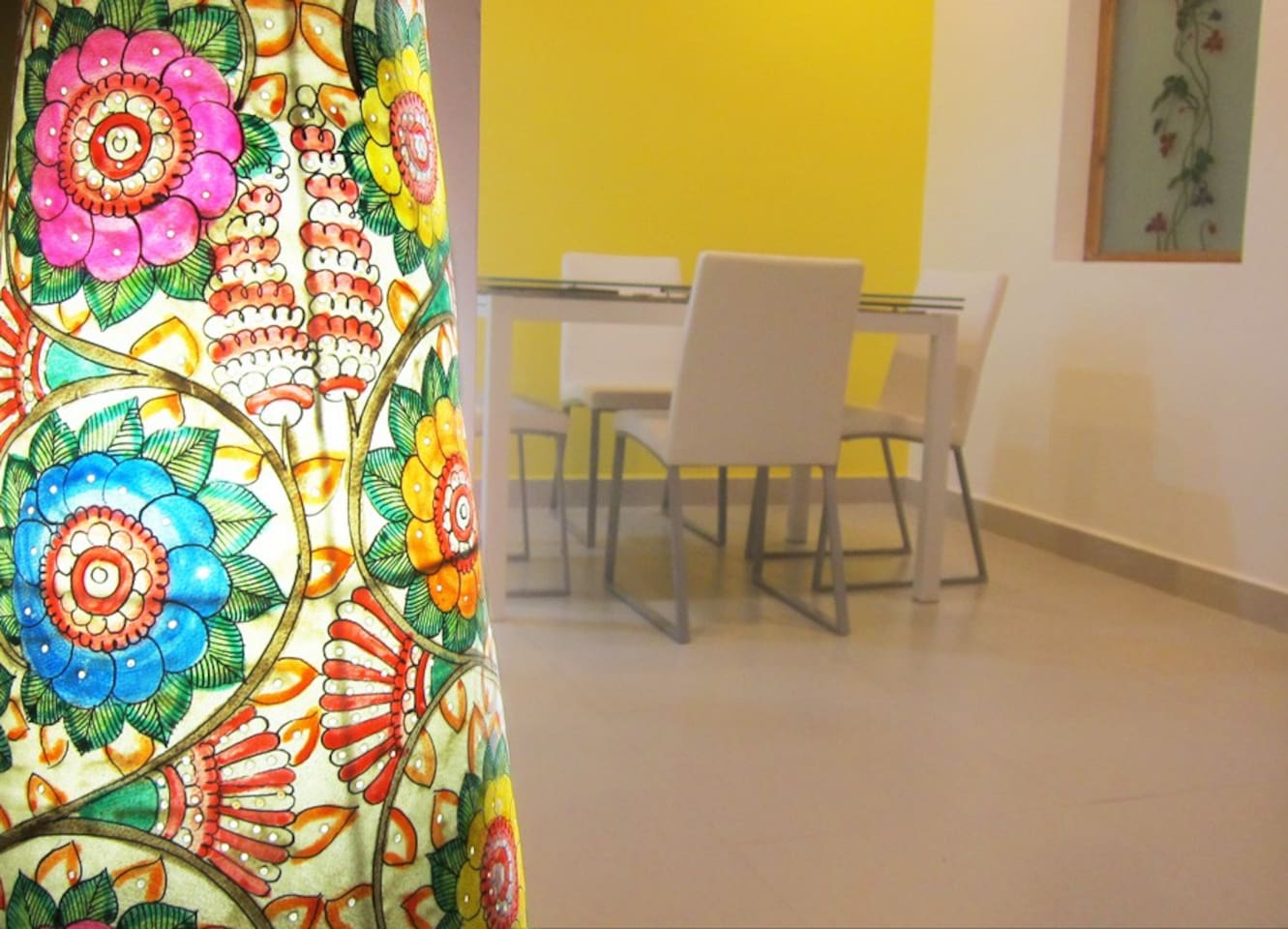 Mango House Vizag: Hand-painted leather lampshades add a colourful taste of Indian art