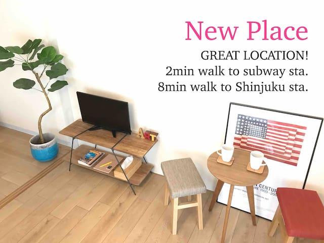 Studio/2min Nishi-Shinjuku sta/