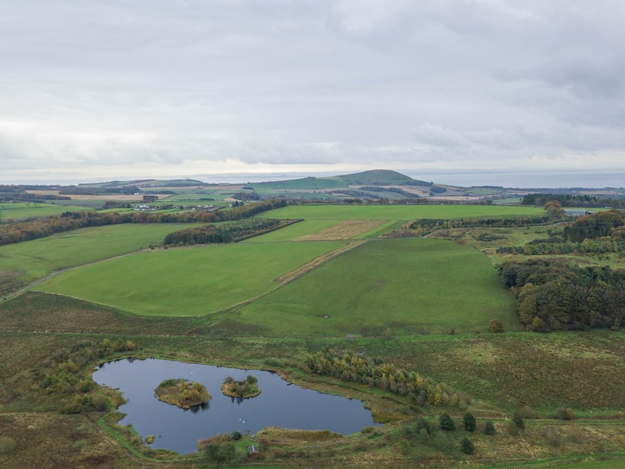 The Loch providing natural peat spring water for trout