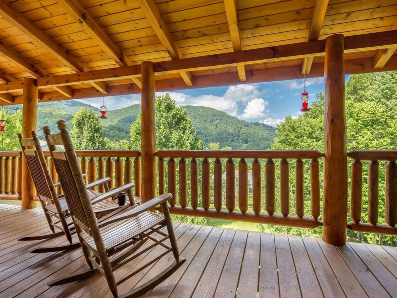 Relax, enjoy the view and breath the fresh mountain air at 4000 feet.