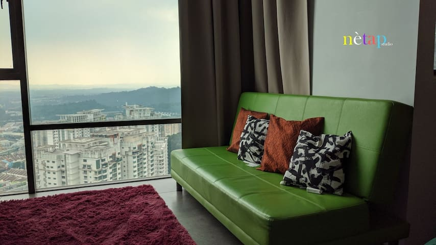 Comfy place with breathtaking view.