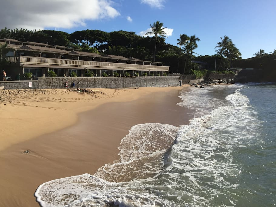 OUR PRIVATE BEACH AT KAHANA SUNSET! AMAZING VIEWS AND RELAXING OR PLAYING AND SNORKELING AWAITS YOU!