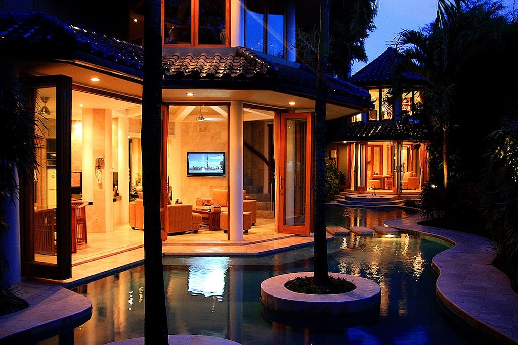 Villa Bintang 1 - Note guest access is limited to the areas with lighting