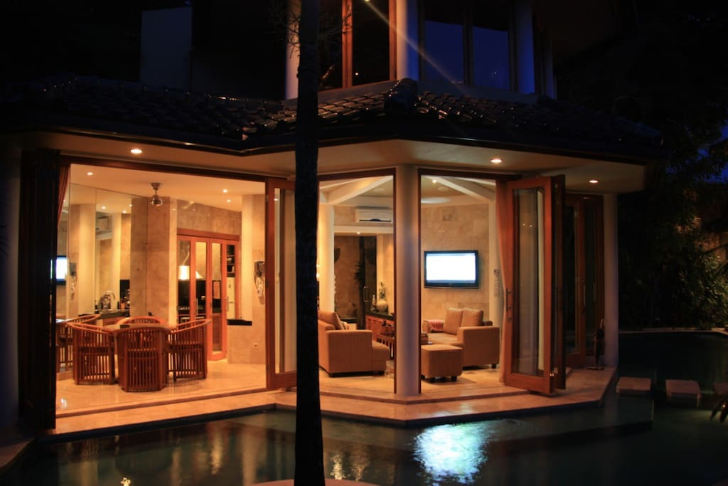 Villa Bintang 2 - Note guest access is limited to the areas with lighting