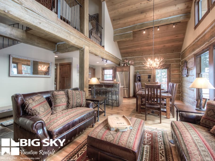 Big Sky Resort, Powder Ridge Oglala 13, Living, 3