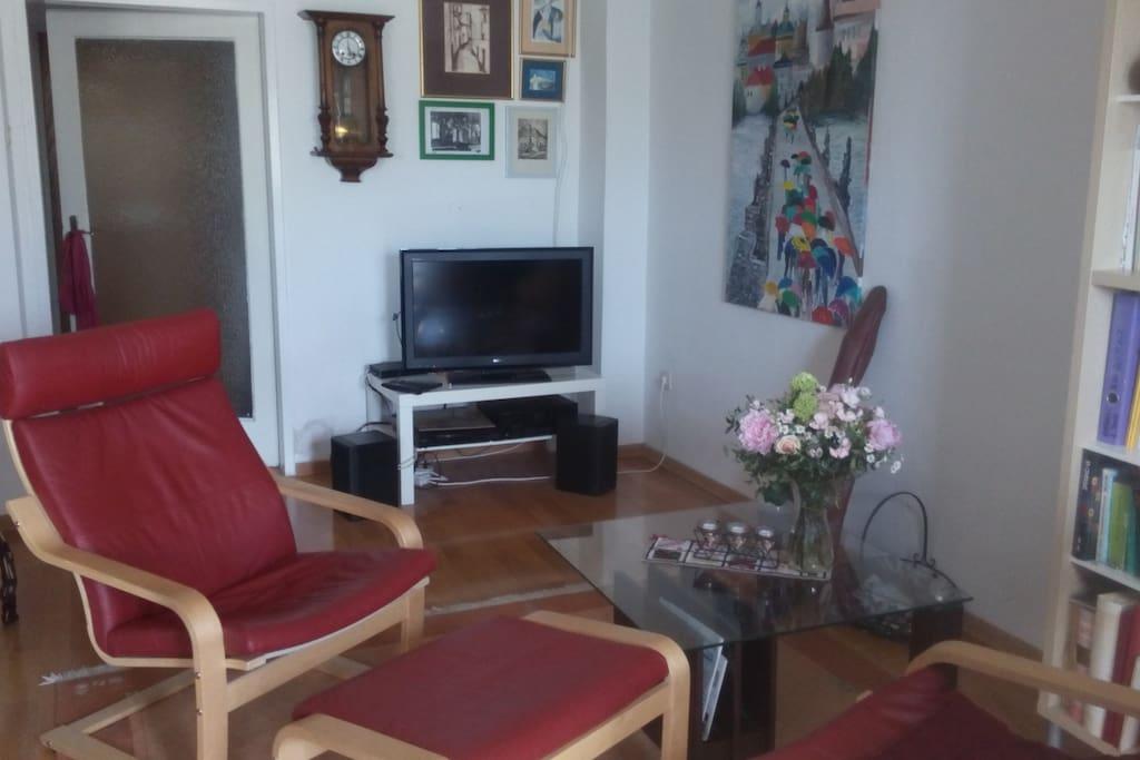 Comfortable livingroom with TV