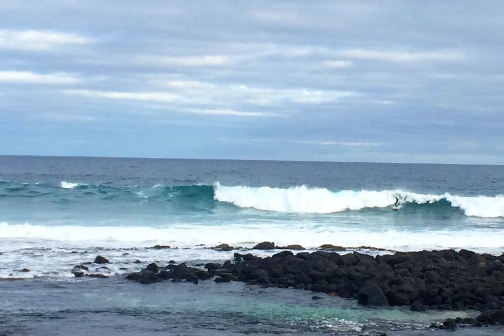 Surfing at 'the passage' in Port Fairy