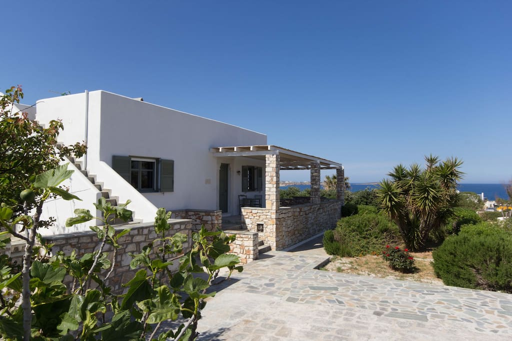 The villa is surrounde by gardens that have great sea and island views
