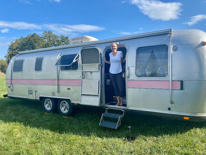 Pinkie by the Lake ~ airstream