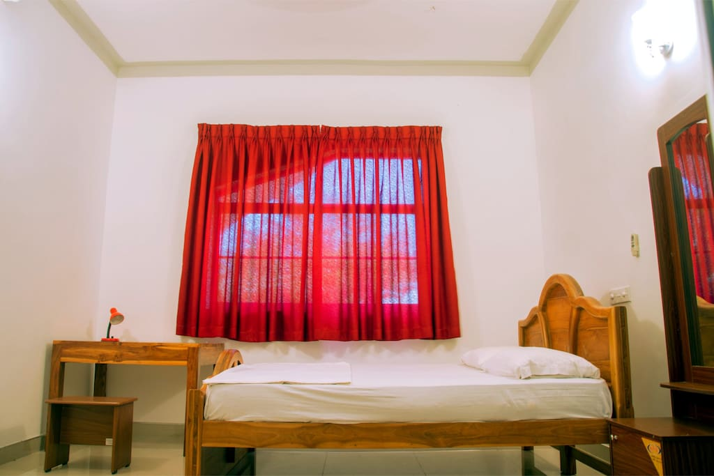 Luxury double bed and room with air conditioning.