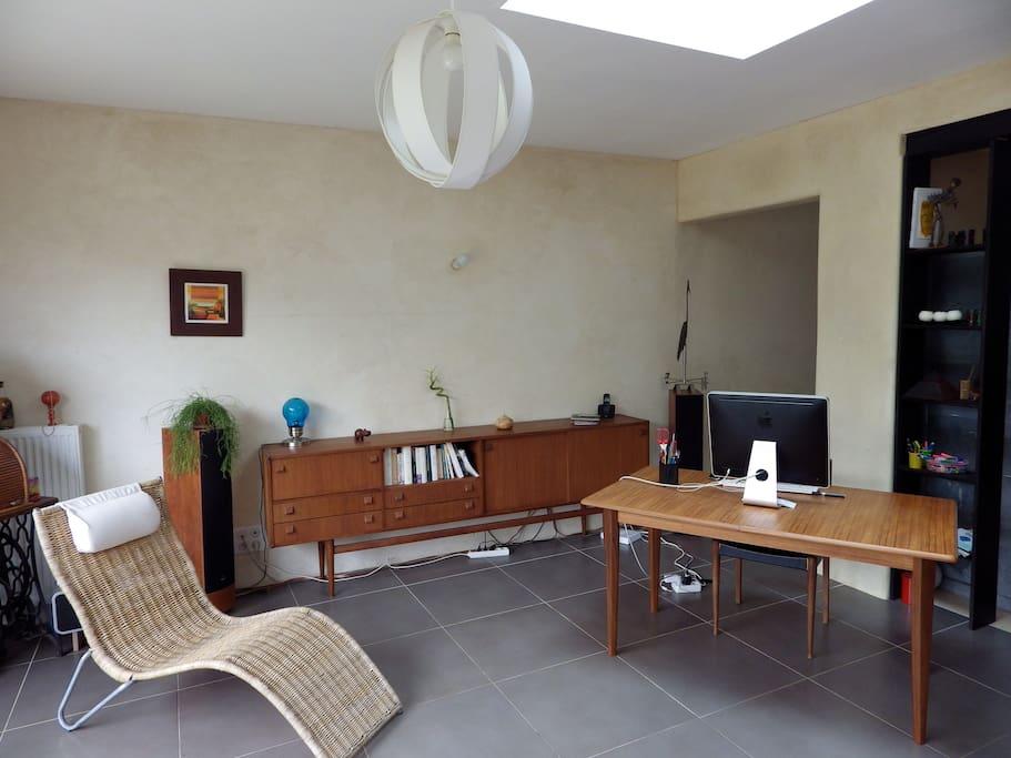 Séjour cuisine ouvert, espace de 35 m2