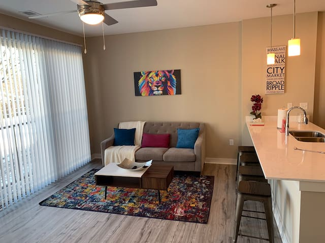 Luxury Broad Ripple 1Bd Apt | Close to BR Ave