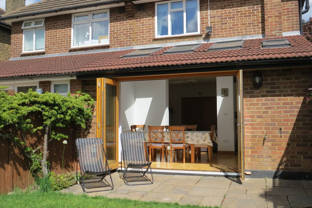 Our dinning room can be the extension of the garden with the bi fold doors