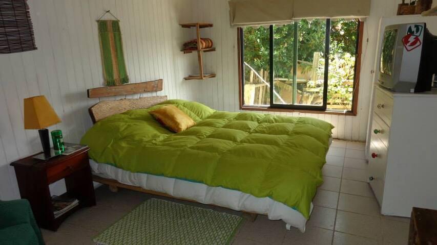 dormitorio principal,cama dos plazas