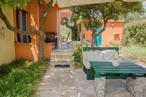 Appartement maison de plage avec accès au jardin