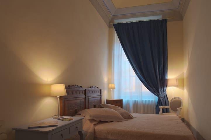 Elegant bedroom in the inner city