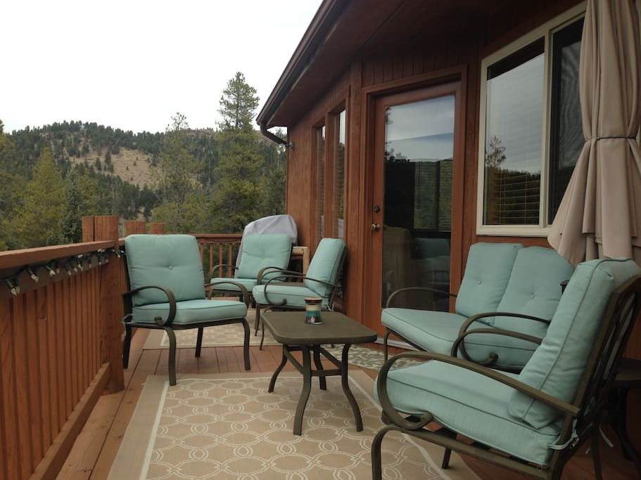 Conversation patio furniture - great for outside gatherings.