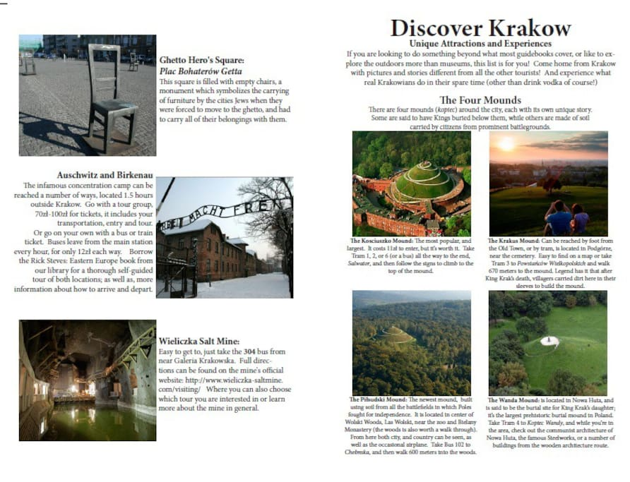 Just one page out of the guidebook we wrote just for your visit to Krakow...