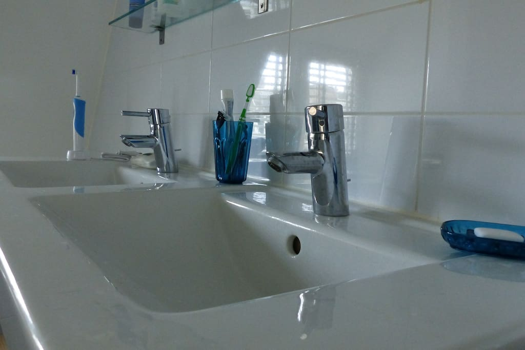 Double sink for your conversation during your tooth washing