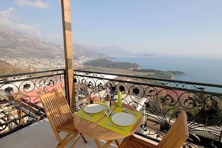 Two Bedroom Apartment, in Sutomore, Outdoor pool, Balcony
