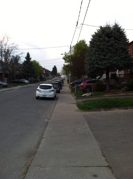 Vista parcial da rua