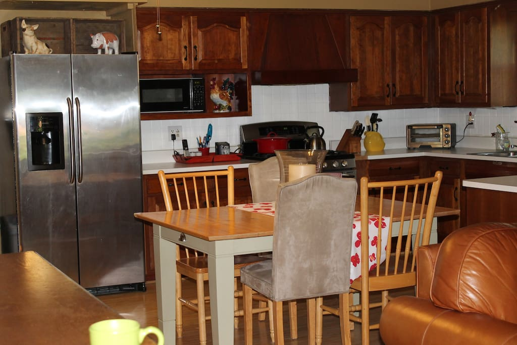 large kitchen open to family room