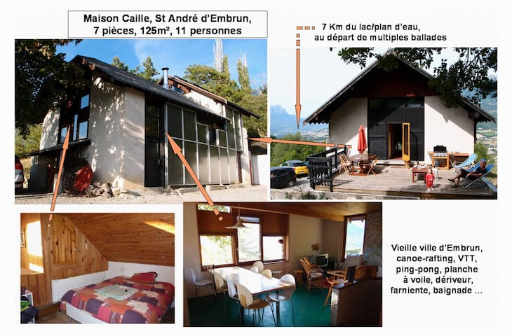 Large villa in FrenchAlps, 7 rooms,12 people - Saint-André-d'Embrun - บ้าน