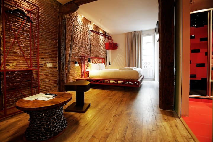 Basque Boutique - Habita. cuadruple - Bilbao - Bed & Breakfast
