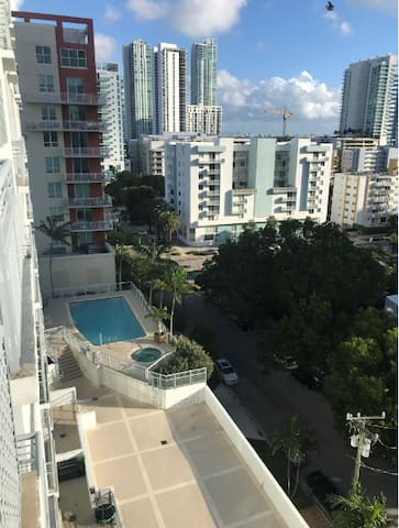 Furnished room in 2B/2B condo with great views