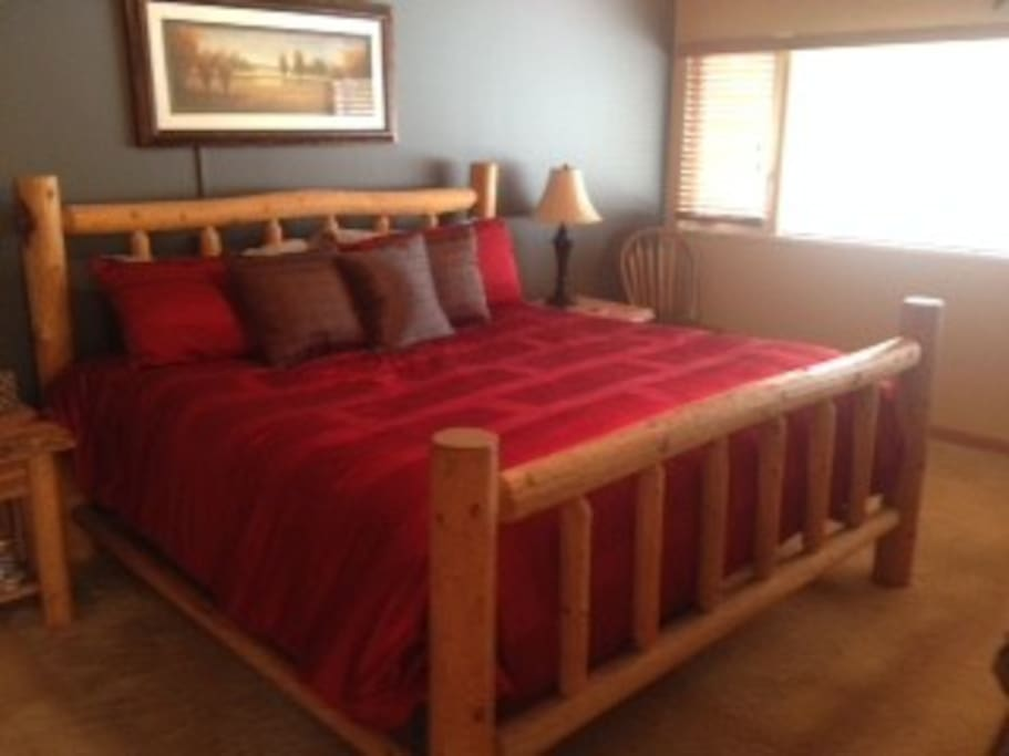 Master Suite with king bed.  Our Cougar Room!
