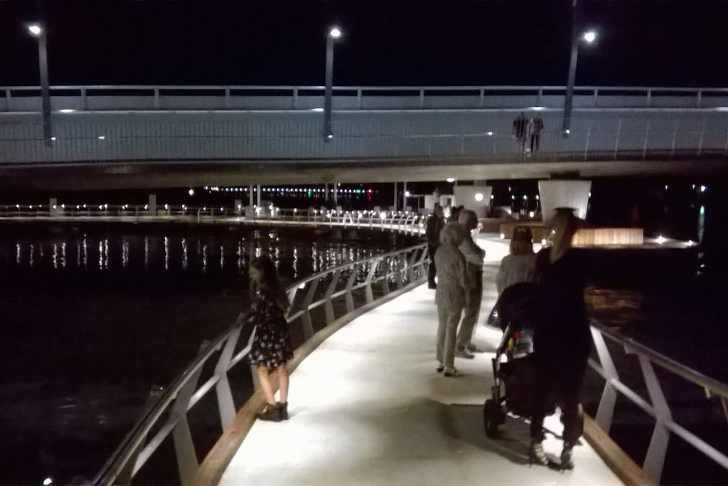 New walkway under bridge