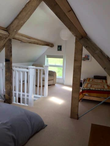 Single bed if needed and space for a travel cot