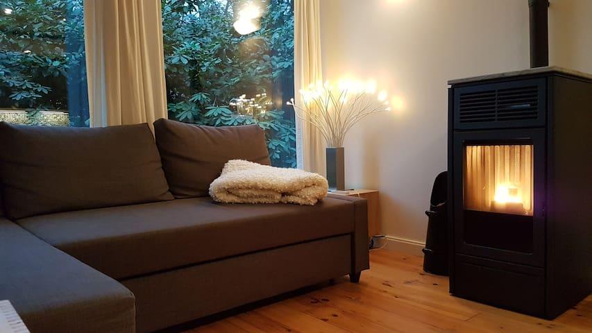 Comfortabele woning met nieuwe houtgestookte sauna