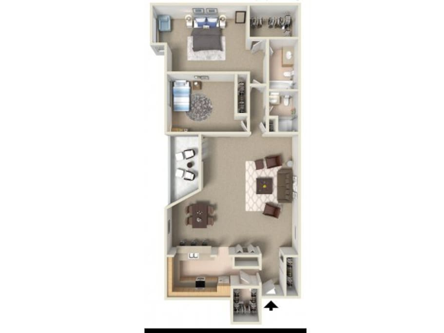 Floor plan of the entire apartment