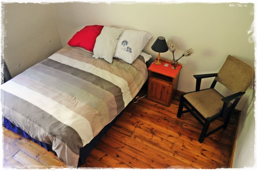 This is the room you will be occupying. it is a modest but comfortable space