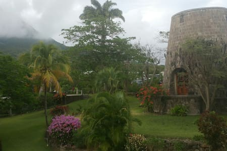 Historical Mill  MorningStar Estate - Nevis, St. Johns Parish, West Indies