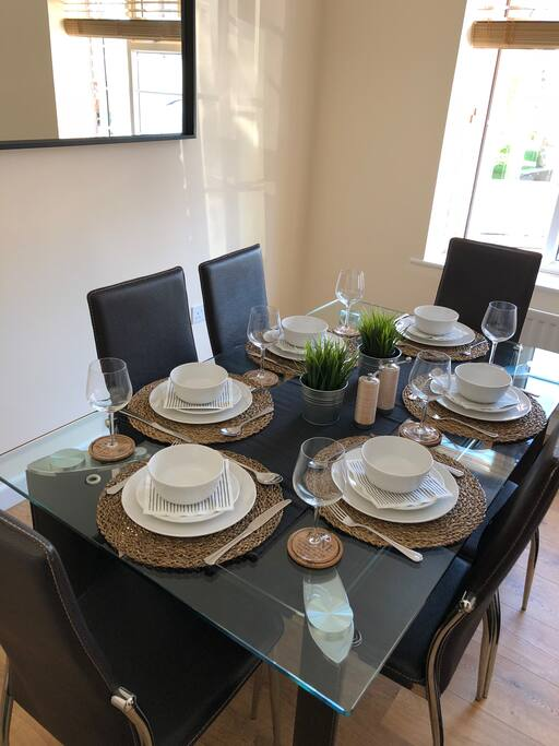 A beautiful dinning table to enjoy