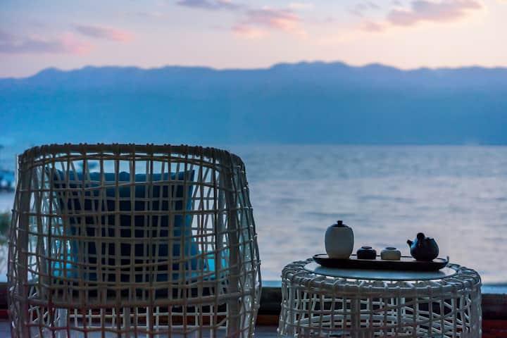 洱海海鸥季,两晚免费接机/含早,幻影浴缸海景大床房