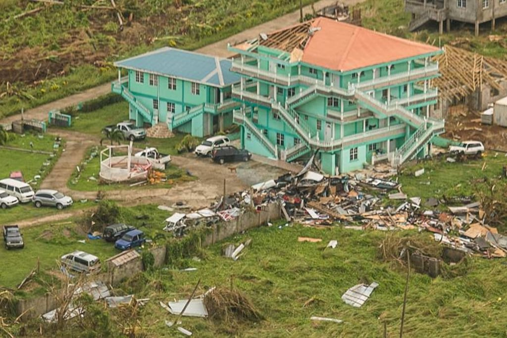 Gazebo and Surroundings after Hurricane Maria