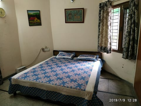Private bedroom in house next to park and greenery